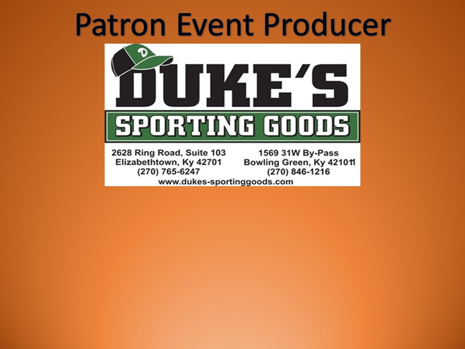 Thanks to Duke's Sporting Goods for their Sponsorship!