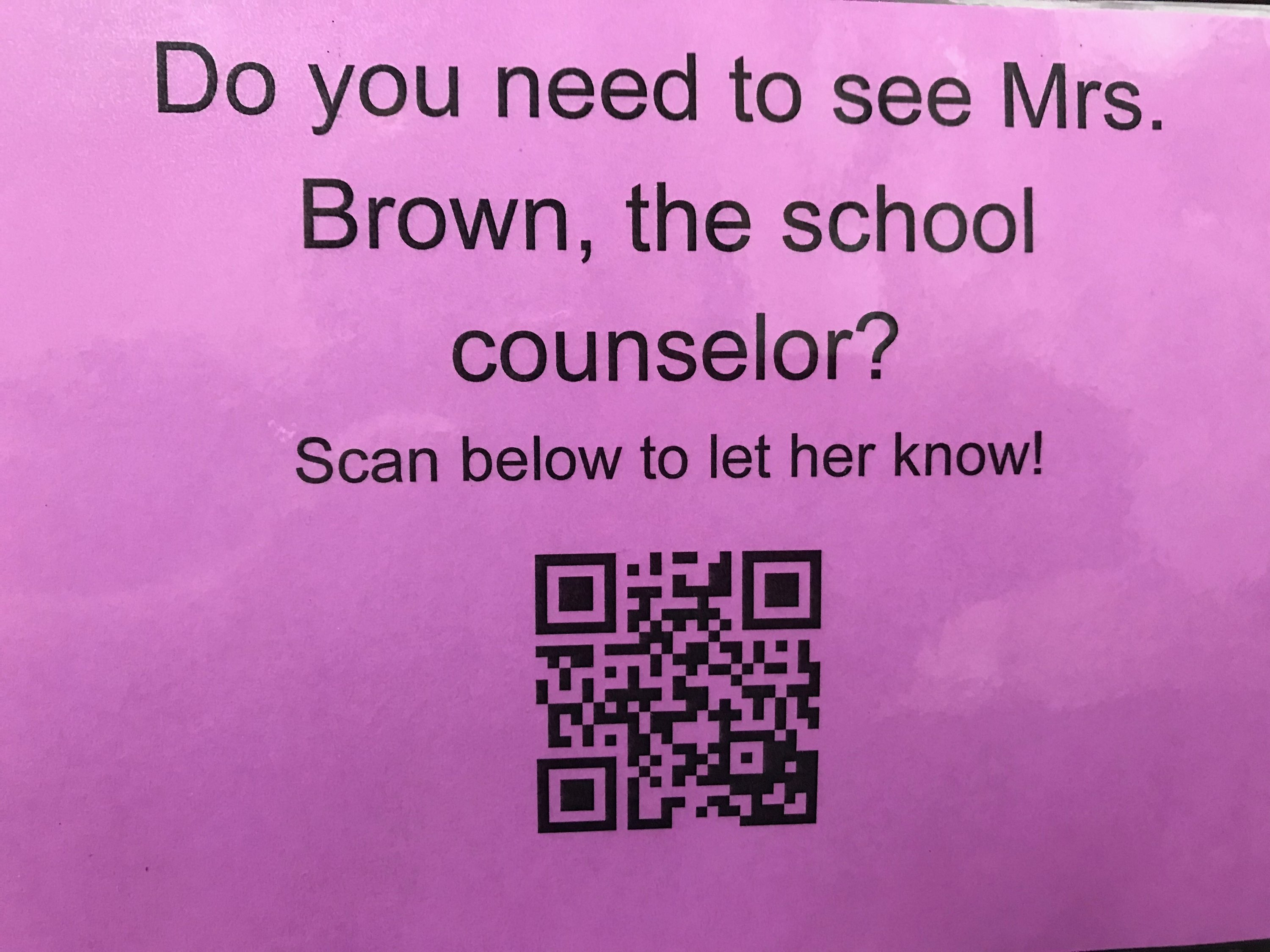 Scan for counselor assistance
