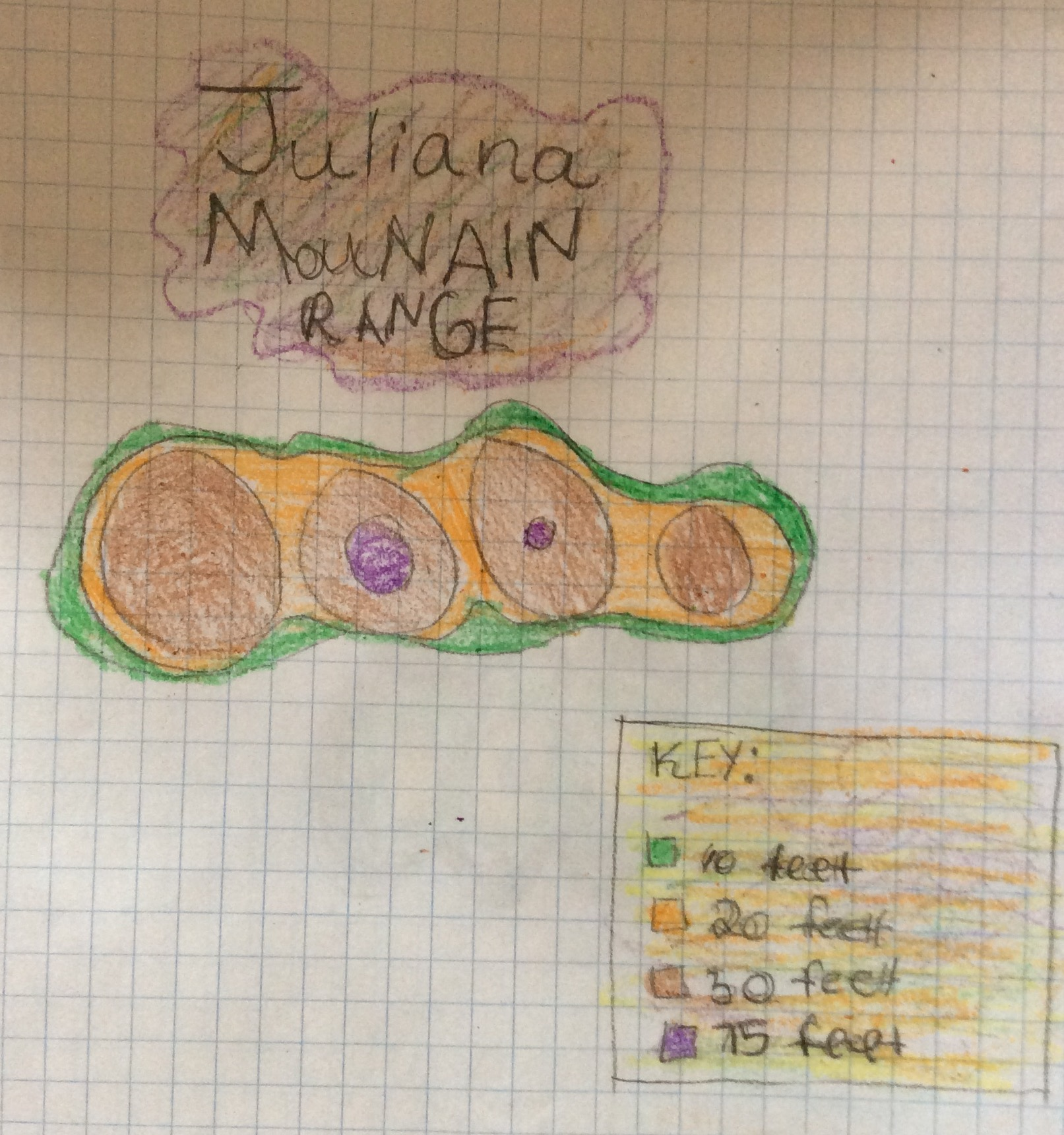 Juliana created her topography map based on the shapes of her hand.