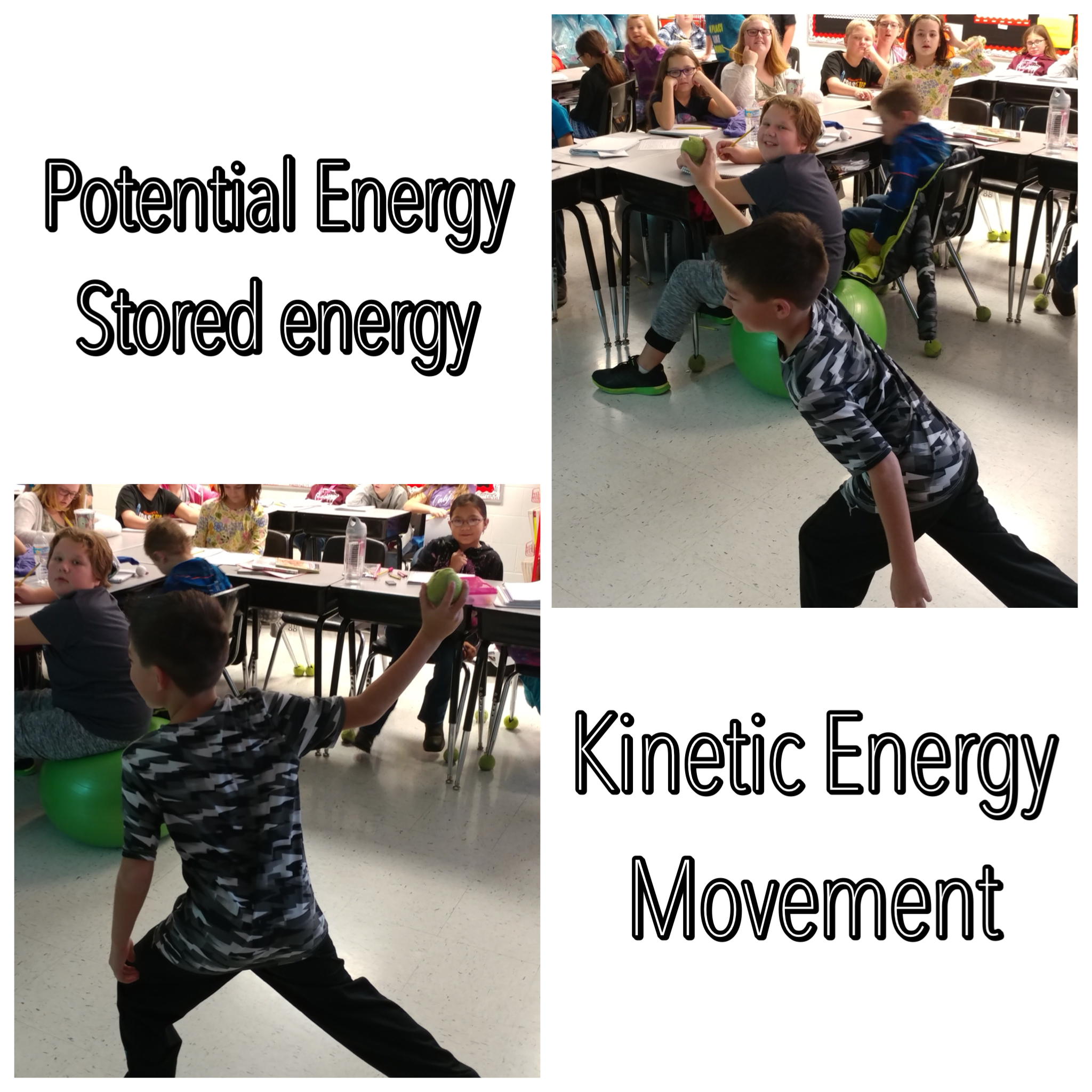 Colin demonstrates how a baseball player uses potential and kinetic energy!